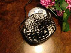 real crocodile 60s shoulder bag
