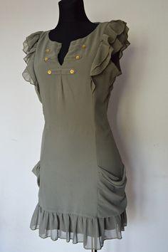 Sukienka militarna, khaki S/M
