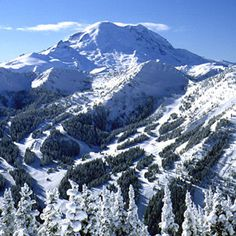 Crystal Mountain, WA   I so miss the days of skiing here!  Gotta go back to these slopes soon!