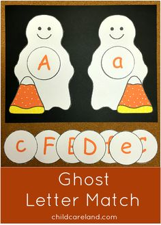 This week's free printable is Ghost Letter Match which is a great activity for letter recognition and review. In this activity children find the matching letter circles and place them on the ghosts. Available until Sunday October 19th ... after that it will be available in the member's section of the site.