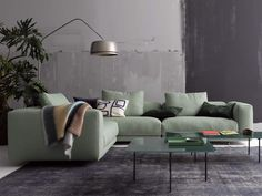 Moss Sofa Embodies the Classic Divan in a New Way - InteriorZine Sofa Design, Interior Design, Sofa Furniture, Furniture Design, Furniture Ideas, Furniture Cleaning, Furniture Stores, Cheap Furniture, Table