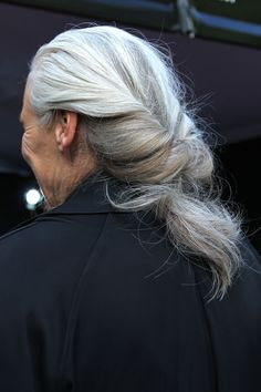 beautiful grey hair!