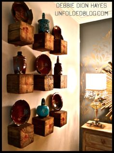 shelves made from a post