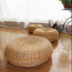 50*20cm Yoga mat,meditation cushions rattan ottoman stool Traditional natural rattan stool sofa,rattan furniture,wicker stools