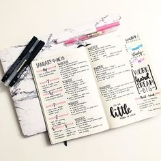 Simple weekly spread for your bullet journal that doesn't require major art skills. Bullet Journal 2019, Bullet Journal Spread, Bullet Journal Inspo, Bullet Journal Layout, My Journal, Journal Prompts, Journal Pages, Journal Ideas, Bullet Journals