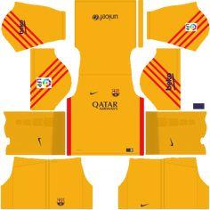 kit-barcelona-dls16-uniforme-goleiro-alternativo Soccer Kits, Football Kits, Messi Boots, Barcelona Fc, Liga Soccer, Soccer League, Sport T Shirt, Sports, Cleanser