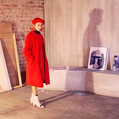 """""""The woman in red"""" is Miranda Makaroff for #PGBloggingMyCity"""