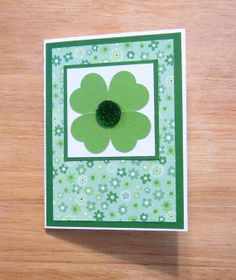 St. Patrick's Day Handmade Card  St. by AngelBDesigns4You, $3.75. Like us on Facebook www.facebook.com/AngelBDesigns4You
