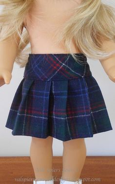 Val Spiers Sews Doll Clothes: How to Make a Pleated Skirt for your American Girl Doll