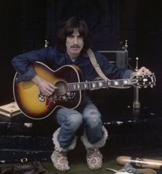 1969 - George Harrison, sessions for Let It Be album.