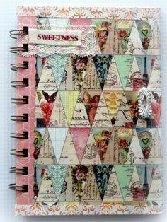 Notebook Journal Handmade 3 x 5 by cathymichaelsdesign on Etsy
