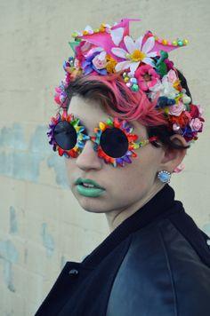 Glittery Dinosaur Flower Headband.