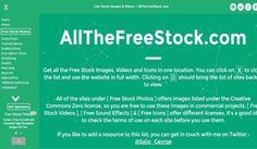 AllTheFreeStock es un directorio de webs donde podemos descargar imágenes libres, también con secciones para vídeos libres, sonidos libres e iconos libres.