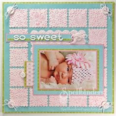 So Sweet Scrapbook Page
