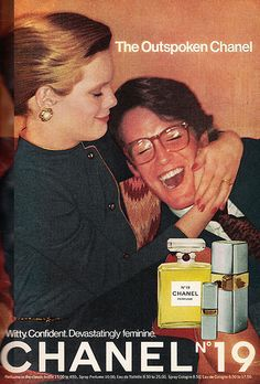 """1977 Fragrance Ad, Chanel No. 19 Perfume, """"The Outspoken Chanel"""" 