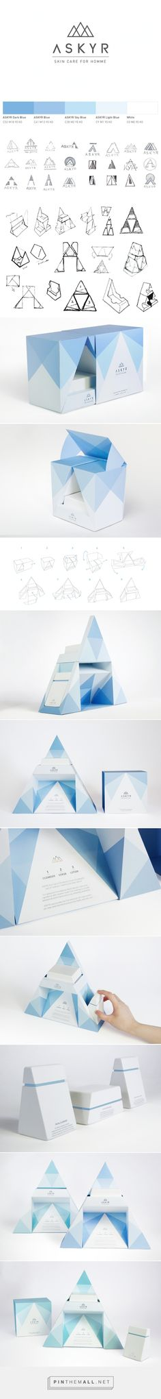ASKYR #Skincare Product #packaging by In-young Bae, Hsiao Han Chen, Jiaru Lin & Sungmin Kim - http://www.packagingoftheworld.com/2015/02/askyr-skincare-product-student-project.html