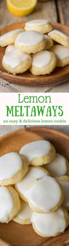 Lemon Meltaways ~ Light and buttery, these lemon bite-sized cookies are a real treat! Easy to make and the perfect little bite of lemon!