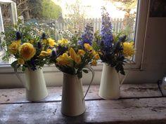 Posy Barn jugs of flowers