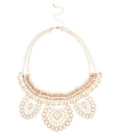 lovely shell pink necklace with a touch of the dramatic.