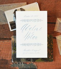 Quill Wedding Invitation Suite | August & Osceola | www.augustandosceola.com | Exuding a sense of classic simplicity, Quill is inspired by timeless artistry. Enhance your look with hot foil stamping / letterpress. (calligraphy)