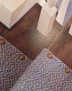 "Upholstery tacks are cute Elizabeth Eakins ""flame stitch"" runner. Credit Alexa Hampton"