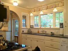 Arts and Crafts bungalow kitchen remodel.