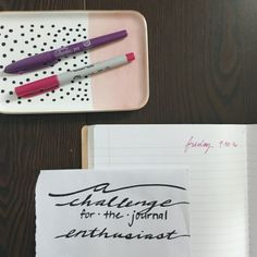 A 30 day challenge for the journal enthusiast