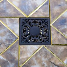 Oil Rubbed Black Bronze Flower 5383 Square Carving Floor Waste Grates Bathroom Shower Drain Strainer 4 Inch Drain