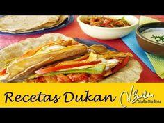 Recetas Dukan Crucero: Fajitas de Pollo y Salsas / Dukan Chicken Fajitas
