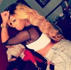 K Michelle Blonde Hair Michelle Blonde Hairstyles Flawless hair ( k . michelle ) on ...