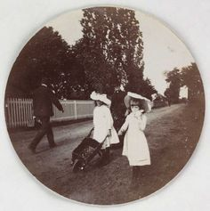 Children walking with a wheelbarrow, about 1890. Collection of National Media Museum/Kodak Museum