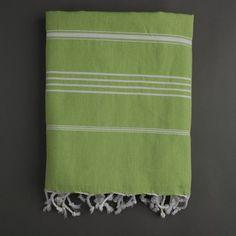Nine Space Ayrika Stripes Fouta Towel in Green