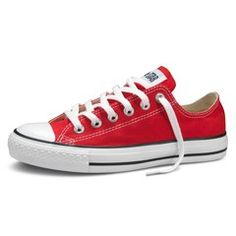 (Converse)RED. I've wanted a pair of red Converse for a while, but I'm glad a waited until they were a (RED) product. Part of the cost goes to the Global Fund to eliminate AIDS, tuberculosis & malaria. My mom got a pair, too. ;)