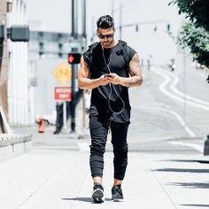 fitness t shirt men fashion long tshirt summer gyms short sleeve t-shi – myshoponline.com
