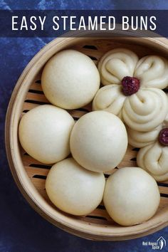 An easy Steam Buns Recipe, Bun Recipe, Cooking Bread, Cooking Recipes, Pastry Recipes, Steamed Bao Buns, Korean Food, Chinese Food, Chinese Desserts