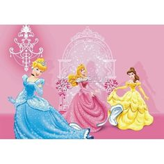 Fotomural Disney Princesses In Pink Castle FTD-0286-2861