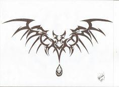 Tribal Vampire Bat take three Tattoo Design Drawings, Tribal Tattoo Designs, Tattoo Sketches, Tribal Tattoos, Vampire Tattoo, Vampire Bat, Tatoo Art, Body Art Tattoos, Blade Tattoo