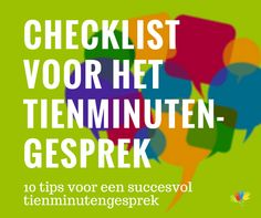 Checklist voor het 10-minutengesprek Coaching, Education, Learning, Kids, Club, First Class, Training, Children, Boys