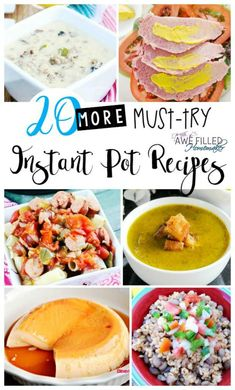 I find new recipes everyday and I love sharing recipes with you!  This week I am bringing you 20 More Must Try Instant Pot Recipes!  via @AFHomemaker