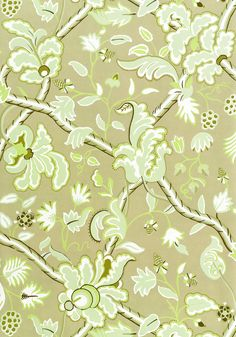 DENMARK, Green and Beige, T6034, Collection Anniversary from Thibaut