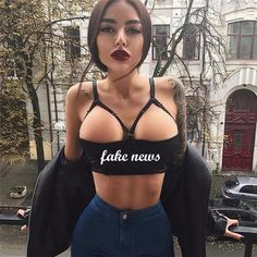 Tank Tops Fake News Sexy