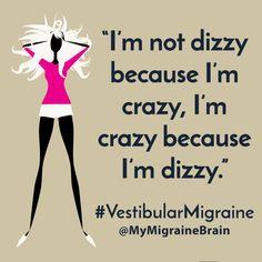 Crazy Because I'm Dizzy – The Stigma of Vestibular Migraine - Headache Type Migraine Diet, Migraine Relief, Migraine Aura, Head Pain, Natural Headache Remedies, Migraine Home Remedies, Chronic Migraines