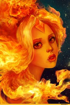 Adventure Time With Finn and Jake Fan Art: Flame Princess Adventure Time Flame Princess, Adventure Time Princesses, Adventure Time Finn, Marceline, Fluttershy, Marshall Lee, Equestria Girls, Powerpuff Girls, Jack Frost
