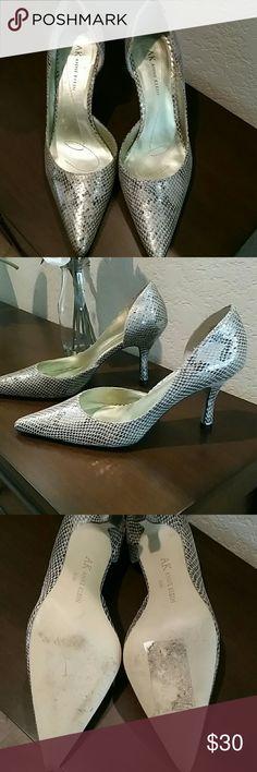 Anne Klein Christa Leather Snakeprint heels Excellent used condition Anne Klein Leather heels with beautiful snakeprint. Anne Klein Shoes Heels