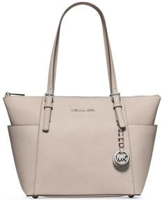 d3df1df3bfeab Buy Black MICHAEL Michael Kors Jet Set East West Leather Tote Bag from our  Handbags