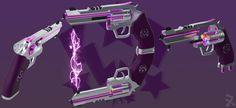Pink Lightning (RWBY OC weapon) by JackBryanReynard.deviantart.com on @DeviantArt