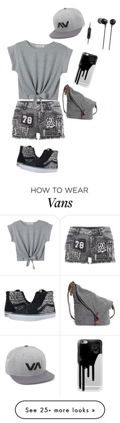 """Untitled #1335"" by sylviabunny on Polyvore featuring Vans, RVCA, Casetify and Sony"