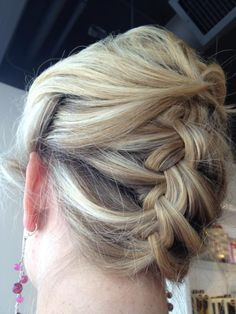 upside-down braid up-do from @Blowdry!
