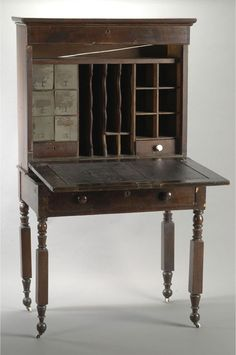 Edgar Allan Poe's writing desk from the Poe Collection at the Harry Ransom Center, University of Texas, Austin, Texas