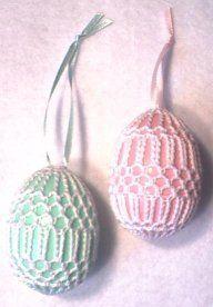 Art Deco Crochet Eggs Patterns - Crochet That! Thread Crochet, Knit Or Crochet, Crochet Gifts, Free Crochet, Easter Egg Pattern, Easter Crochet Patterns, Bunny Crochet, Crochet Home, Egg Crafts